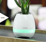 MUSIC FLOWER POT BLUETOOTH SPEAKER WHITE