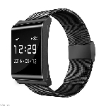X-BAND BLACK WITH STAINLESS STEEL BAND
