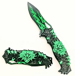 SPRING ASSISTED KNIFE GREEN