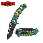 SPRING ASSISTED KNIFE SNAKE CAMO