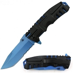 SPRING ASSISTED KNIFE BLUE