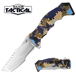 SPRING ASSISTED KNIFE BLUE DIGITAL CAMO