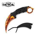 7.5 Inch Fixed Blade Tactical Karambit Neck Knife