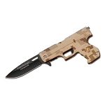 SPRING ASSIST GUN SHAPE KNIFE