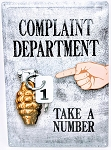 COMPLAINT DEPARTMENT TAKE A NUMBER