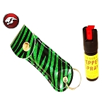 PEPPER SPRAY GREEN ZEBRA