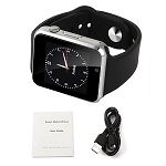 APPLE STYLE SMART WATCH WITH CAMERA BLACK