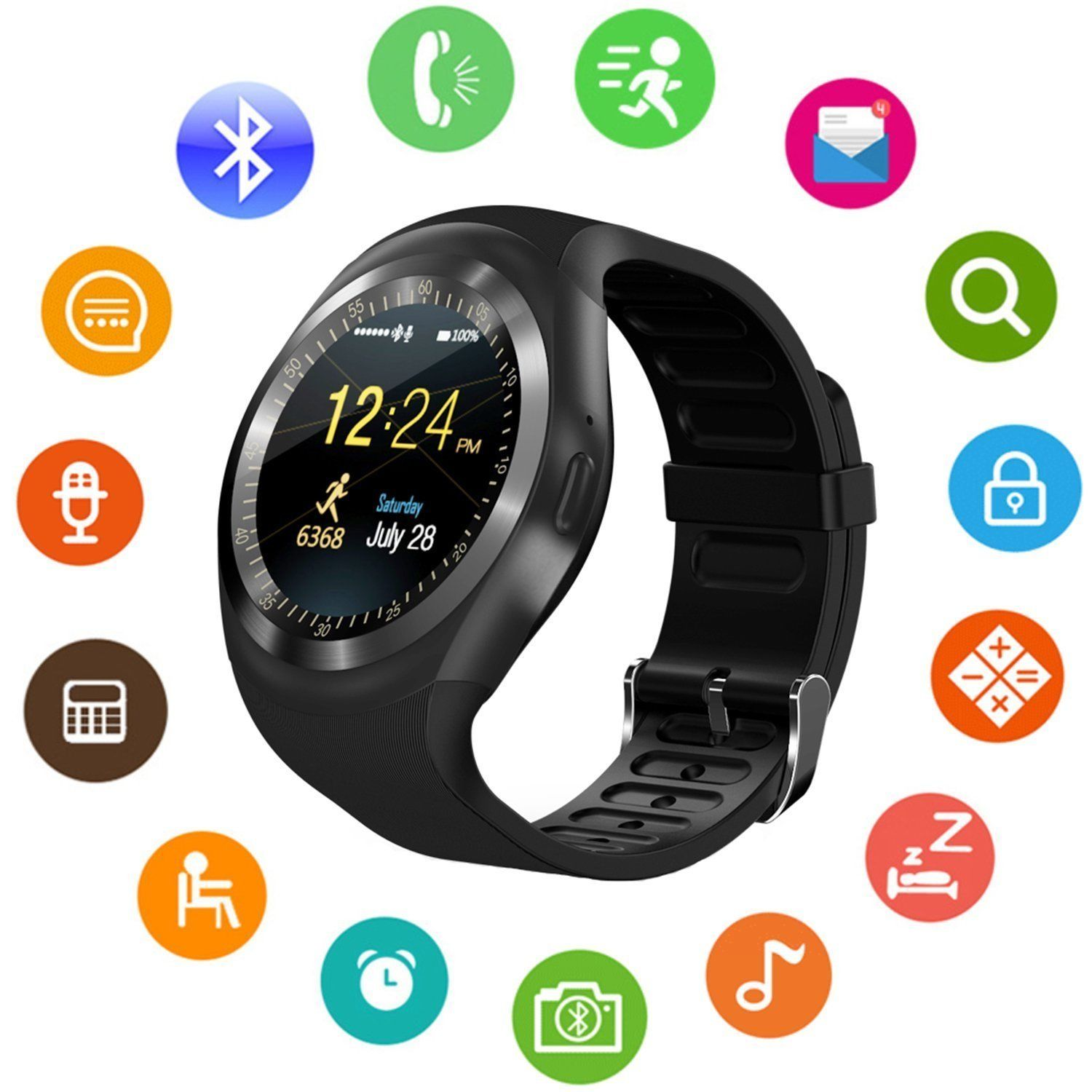 for ebay mate waterproof nfc silver watches bluetooth android watch itm phone mobile smart iphone