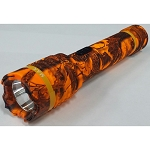 LARGE FLASHLIGHT STUN GUN ORANGE CAMO