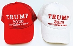 TRUMP HAT 2020 KEEP AMERICA GREAT (ONE DOZEN)