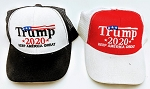 TRUMP HAT 2020 RED AND BLACK (ONE DOZEN)