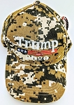 TRUMP HAT 2020 DIGITAL CAMO  (ONE DOZEN)