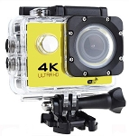 SEAY BRAND 4K ACTION SPORTS CAM WITH WIFI YELLOW