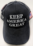 TRUMP 2020 HAT KEEP AMERICA GREAT BLACK ONE DOZEN
