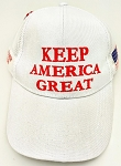 TRUMP 2020 HAT KAG WHITE ONE DOZEN