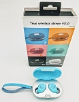 SEAY BRAND TWS TRULY WIRELESS M8 EARBUDS LIGHT BLUE