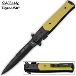 SPRING ASSISTED STILETTO STYLE KNIFE