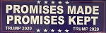 TRUMP PROMISES MADE PROMISES KEPT BUMPER STICKER (10pc price)