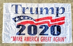 TRUMP 2020 FLAG WHITE