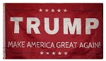 TRUMP FLAG MAGA RED