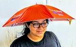 TRUMP UMBRELLA HAT RED