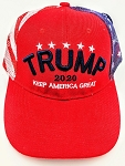 TRUMP 2020 HAT RED WHITE & BLUE MIXED COLORS