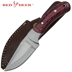 WOODEN HANDLE HUNTING KNIFE