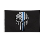 THIN BLUE LINE PUNISHER FLAG