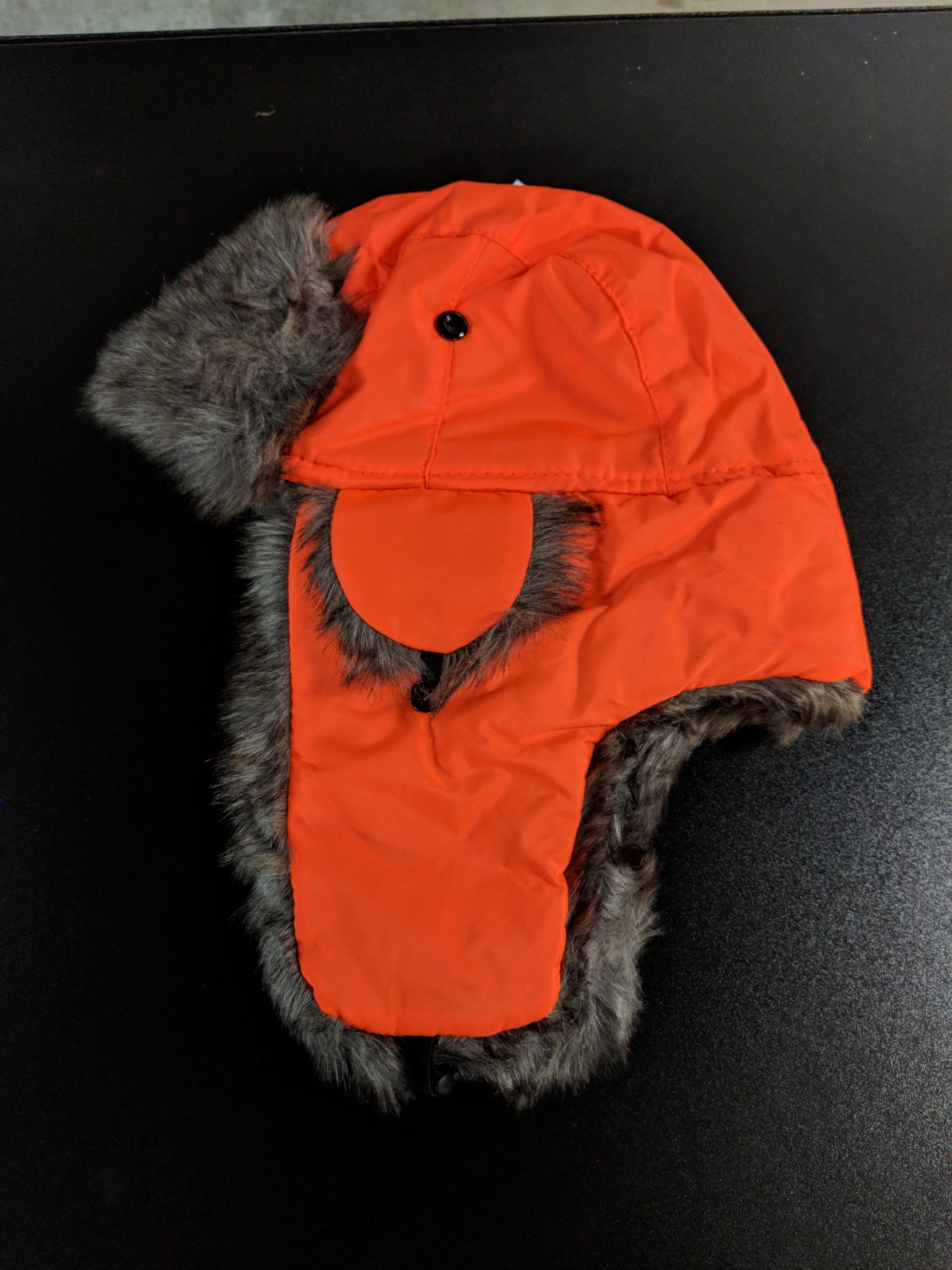 1343be32686 TRAPPER HAT ORANGE