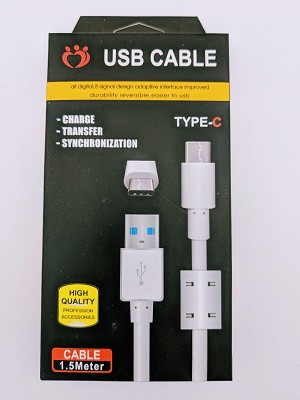 "HIGH SPEED 2.4 Amp TYPE ""C"" CABLE"