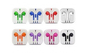 EARPHONES RED (minimum 10 pieces)