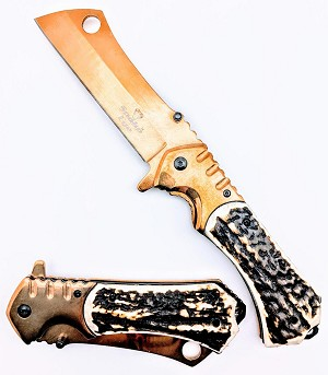 SPRING ASSISTED KNIFE WHITE STAG