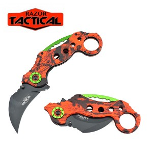 SPRING ASSISTED KNIFE ORANGE CAMO
