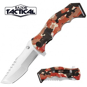 SPRING ASSISTED KNIFE GROUND CAMO