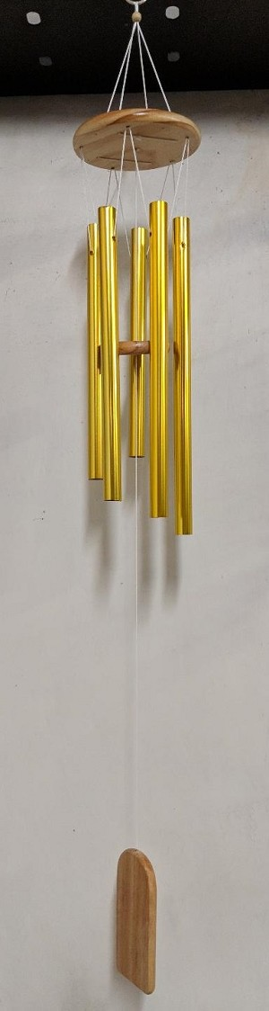 WINDCHIME GOLD WITH WOOD